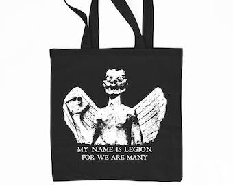 Pazuzu demon-The Exorcist- black cotton tote bag