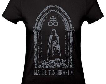 Skulls tshirt,witchcraft shirt, Leviathan cross,women tshirt grey ink TENEBRARUM, horror tee,dark fashion