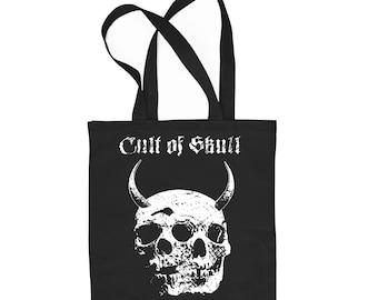 Black cotton tote bag Twin Evil