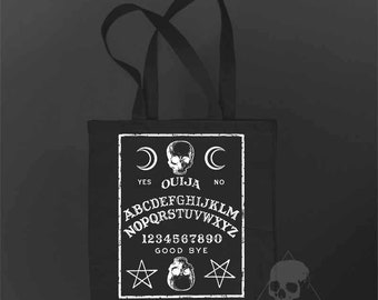 Black tote bag Ouija