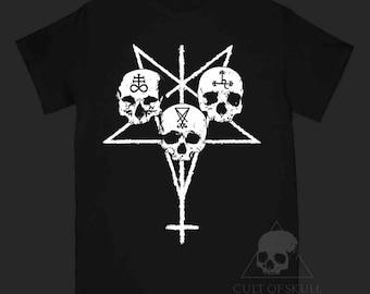 Black T-shirt Unholy Trinity, Leviathan, Lucifer, Lilith