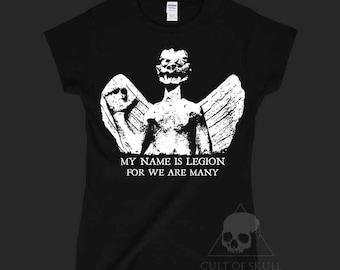 Pazuzu demon woman fitted T-shirt