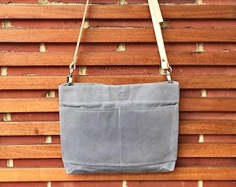 Hand Waxed Canvas Bag - Mini Cross Body Bag - 24 Color Options | Cross Body Bag, Purse, Handbag