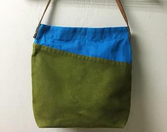 Large Waxed Canvas Tote Bag | Horween leather straps | Tote bag, Handbag, Market Bag