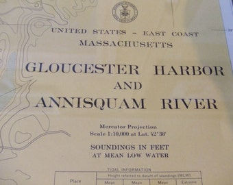 Gloucester Harbor and Annisquam River ~ Massachusetts, East Coast - Incl. Ipswich Bay, Goose Cove, Mill River, Pearce Island - Chart #1277A