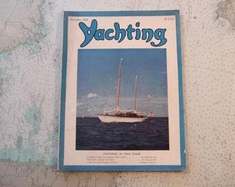 Yachting Magazine ~ November, 1940