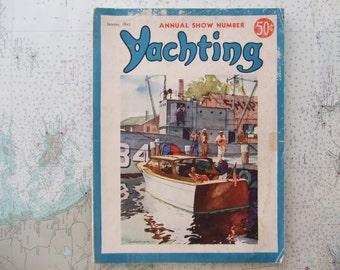 Yachting Magazine ~ January, 1942