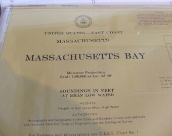 Massachusetts Bay ~  East Coast - Incl. Cape Ann, Gloucester, Boston, inset of North River, Tip of Cape Cod, Stellwagen Bank, Chart #1276