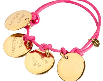 Personalized with four gold plated bracelet