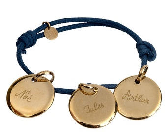 Personalized with three gold plated bracelet