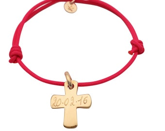 Bracelet cross plated gold custom for teens