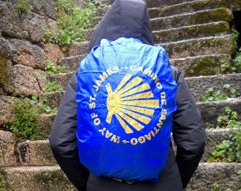 Camino de Santiago way of St. James Backpack rain cover