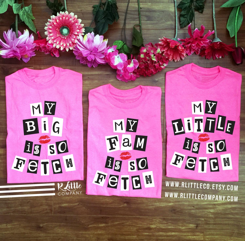 7fae75ae9073 Mean Girls My Big Little Fam is So Fetch Unisex Pink Tshirt