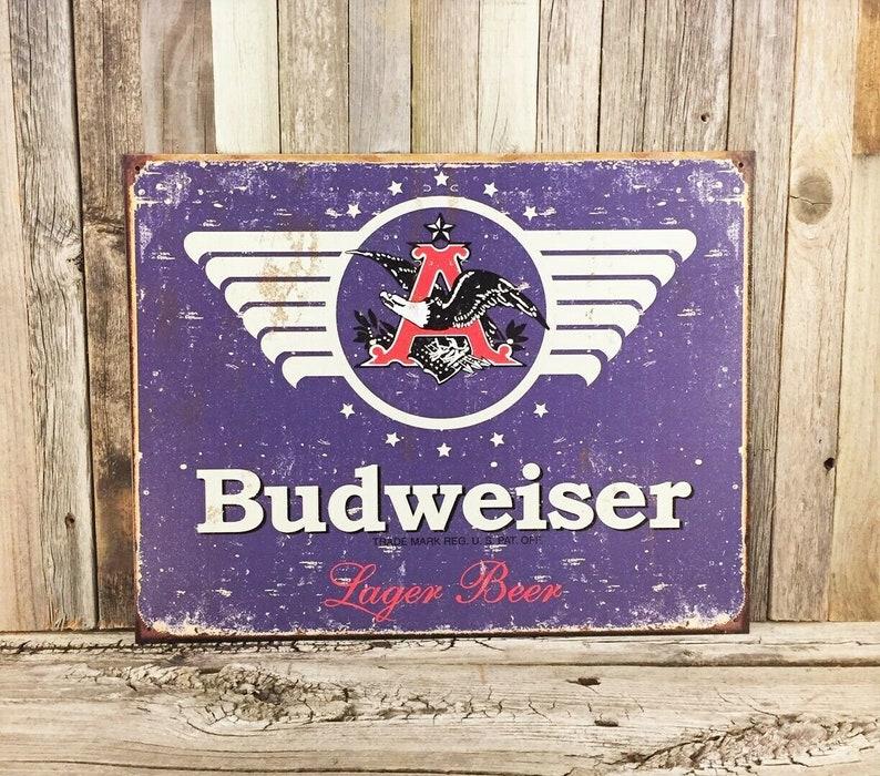 Pearl Lager Beer Bar Pub Rustic Retro Tin Metal Sign