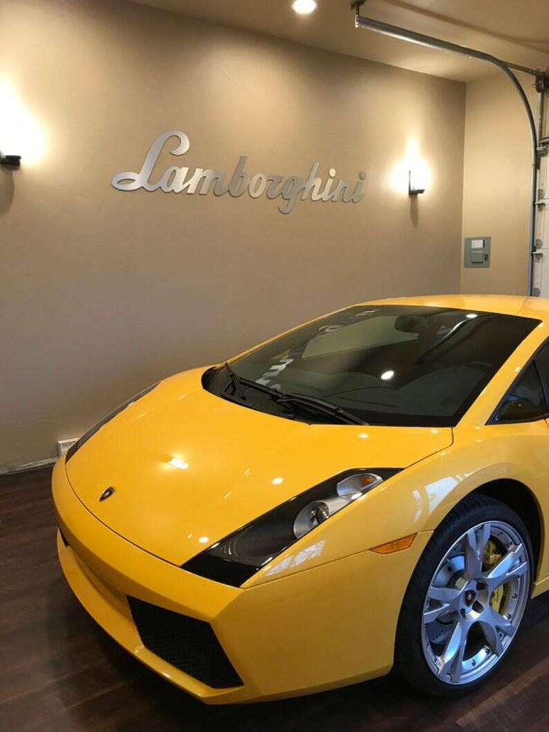 6 Ft Lamborghini Sign Dealer Showroom Garage Mancave Aluminum Etsy