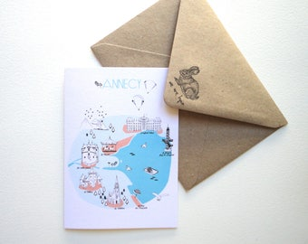 postcard Annecy