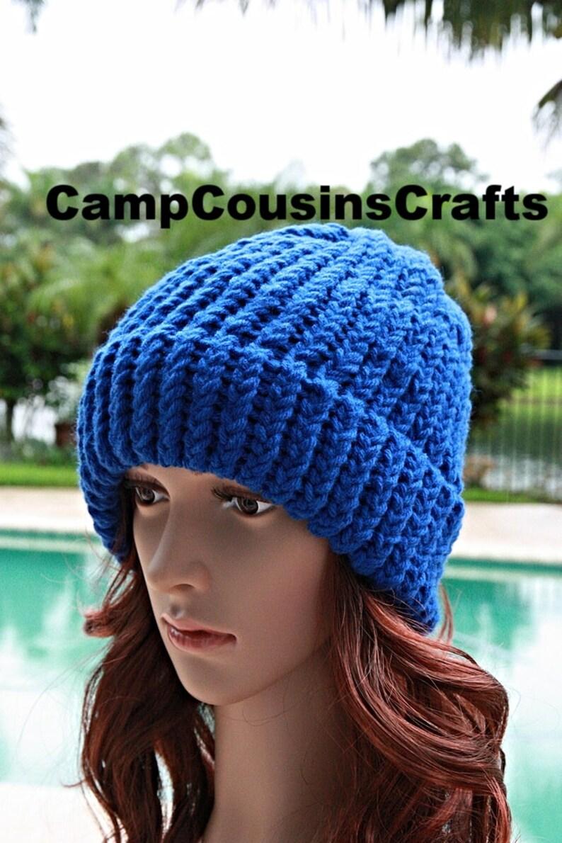 7c1a20b49e0 BLUE knit HATloom knitted hatloom knit hatwinter hatsnow