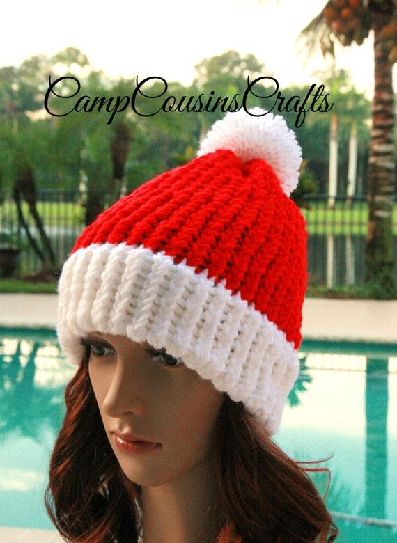 4dd65134eca SANTA knit hatChristmas hatRED knit HATred beaniewinter