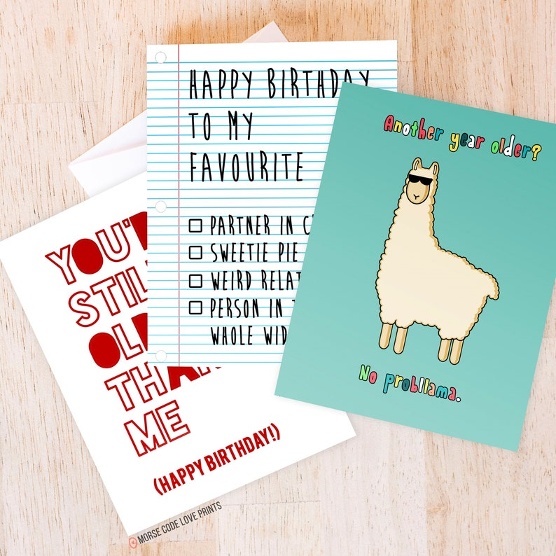 Buy More Save Happy Birthday Llama Checkbox