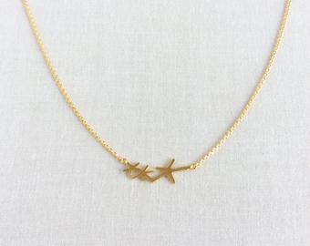 Star Fish Necklace - Star Fish - Starfish Necklace - Starfish, Star Fish Jewelry, Beach Jewelry,Gold Star Fish Necklace,Tiny Star Fish,GPN9