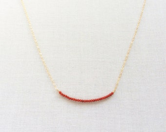 Red Coral Necklace, Coral Necklace, Tiny Coral Necklace, Gold Coral Necklace, Coral jewelry, Red Coral, Red Coral Bead Necklace, GBN33
