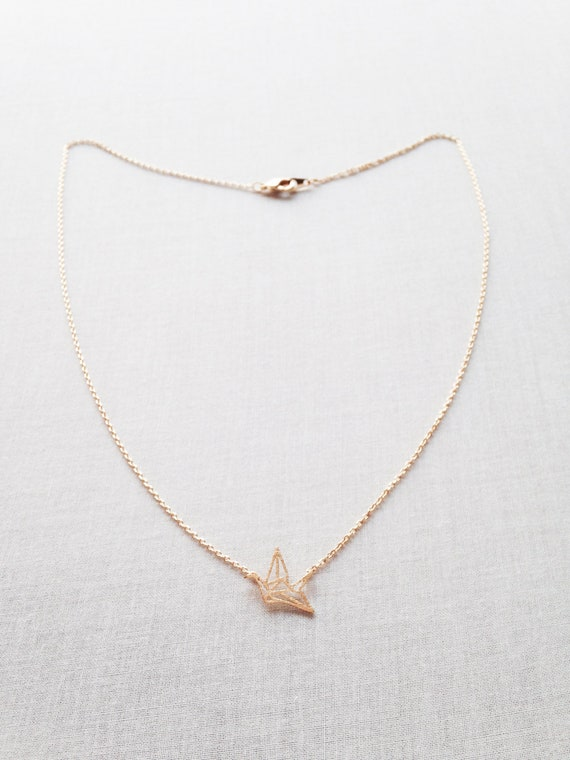 Sterling Silver Origami Crane Necklace By Evy Designs ... | 760x570