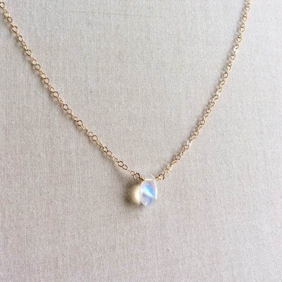 SALE 14k Goldfilled or Sterling Silver Moonstone Necklace BODY CHAIN