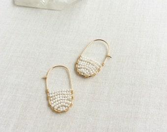 Pearl Hoop Earrings - Gold Pearl Earrings - Fresh Water Pearl Earrings - Pearl Earrings Gold - Gold Hoop Earrings - Pearl Hoops - Pearls