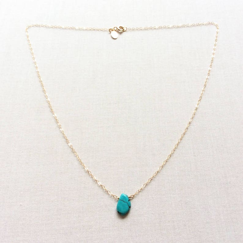 d7388286fb0b3 Natural Turquoise Necklace - December Birthstone Necklace - December  Birthday Gift - Turquoise Wedding Jewelry - December Necklace GN63