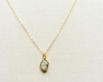 Raw Diamond Necklace, Rough Diamond Necklace, Tiny Diamond Necklace, Diamond Necklace, April Birthstone Necklace, Small Diamond Jewelry BNB4