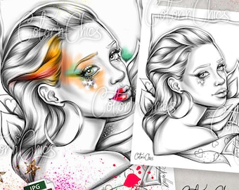 Makeup Coloring Page Etsy