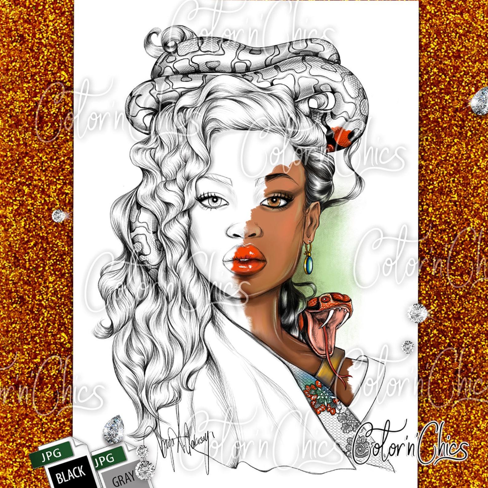Snake Queen from Etsy Artist Derya Çakırsoy