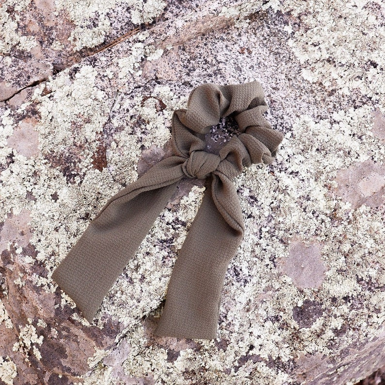 Olive Scrunchie Bow