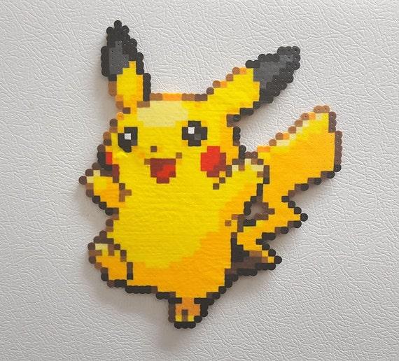 Perler Pikachu Pokemon Dracaufeu Bulbizarre Pikachu Evoli 8 Bit Pixel Art Collection De Figurine Cadeaux Pour Les Enfants Et Les Joueurs