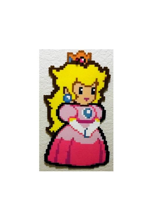 Princess Peach Mario Perler Beads Luigi Perler Bead Art Kawaii Rave Kandi Pixel Art Mario Bros Super Mario Game Room