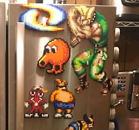 Street Fighter Perler Sf2 Street Fighter 2 Pixel Art 8 Bits Sprite Ken Chun Li Ryu Zangief M Bison Sagat Balrog Vega Blanka