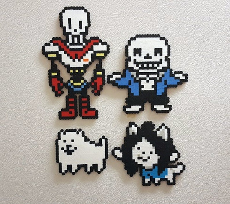 Undertale, Perler Beads, Sans, papyrus, video game decor, wall art, 8 bit,  undertale art, pixel art, hama beads, cosplay, gamer gifts