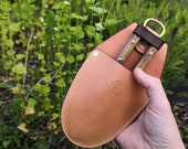 Garden Holster for Secateurs, Pruners or Pruning Saw - tough and long-lasting, hand made in the Uk from British leather READY TO POST