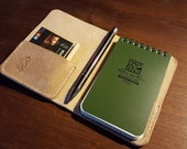 "Small Rite in the Rain Notepad book with pocket - British Leather 3""x5"""