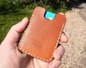 Leather card wallet. Pocket size. Minimal and simple