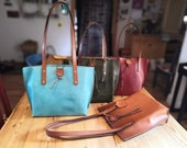 Italian Leather Tote Bag - various colours available - in stock and ready to post