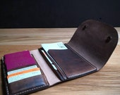 Leather Travel Wallet for passports, ID cards, currency and travel documents