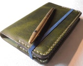 Leather Moleskine Cover for Classic Pocket Size Notebook. READY TO POST Refillable and long lasting. British and Italian leather
