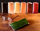Natural leather glasses case - various colours - READY TO POST