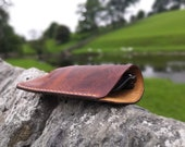 Italian leather glasses case - READY TO POST