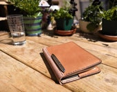 A5 or A6 Luxury British Oak Bark Tanned Leather Notebook Cover