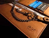 Rodeo Trucker or Biker Leather Chain Wallet