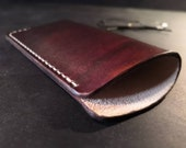 British leather glasses case - dark brown or natural - READY TO POST