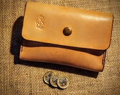 Natural leather purse for...