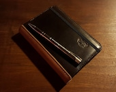 Leather Moleskine Cover for Classic Pocket Size Notebook. Refillable and long lasting. British dark brown leather.